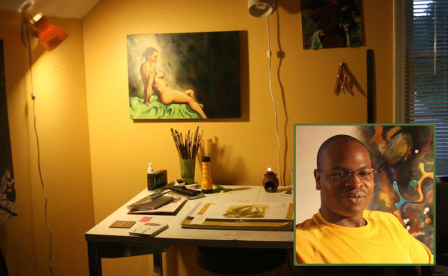 This week's Artist Studio Spotlight: Addo Ashong