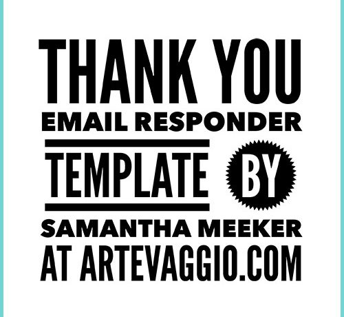 Thank you email responder template